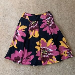 Marella Pleated Skirt Navy Floral Bloomingdales